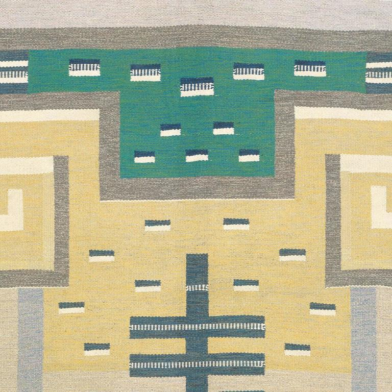 20th Century Swedish Flat-Weave Carpet by Agda Osterberg In Excellent Condition For Sale In New York, NY
