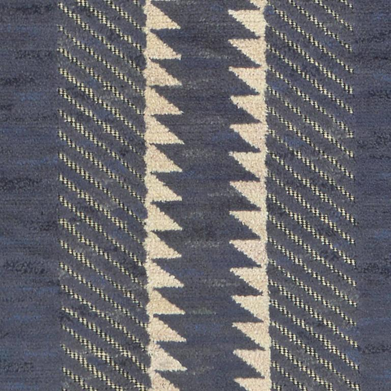 Hand-Woven Swedish Pile Carpet by Barbro Nilsson,
