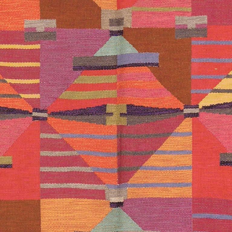 Swedish Flat-Weave Carpet by Agda Osterberg, 1960 In Excellent Condition For Sale In New York, NY