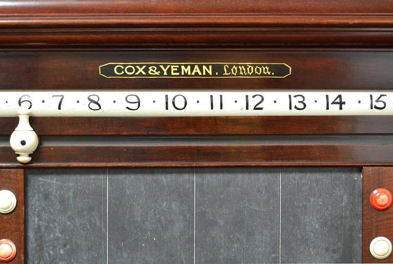 Victorian A billiard snooker life pool scorer marker circa 1860 english victorian mahogany For Sale