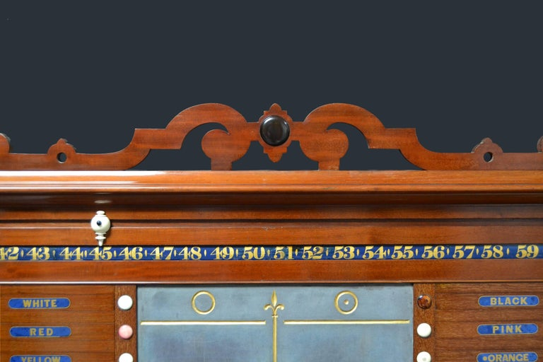 Victorian Billiard snooker pool table scoring cabinet marker victorian english 1870 For Sale