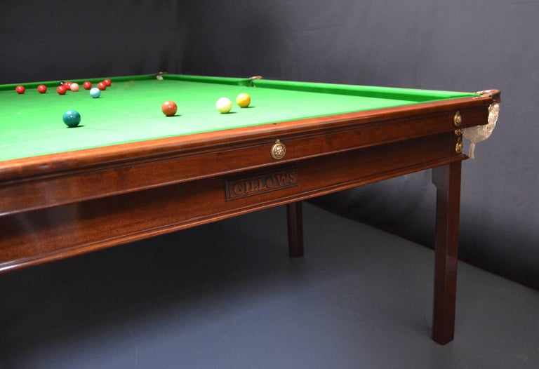 Woodwork Billiard snooker pool table georgian gillow london lancaster circa 1800 For Sale