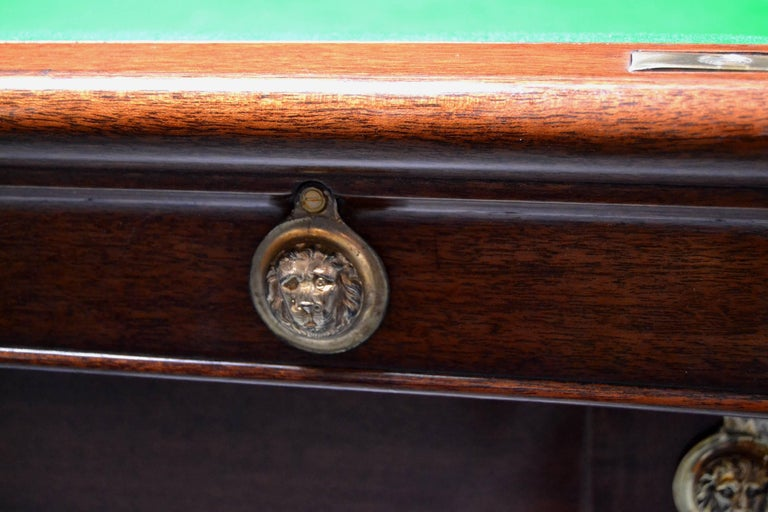 Billiard snooker pool table georgian gillow london lancaster circa 1800 In Good Condition For Sale In Chilcompton, Radstock