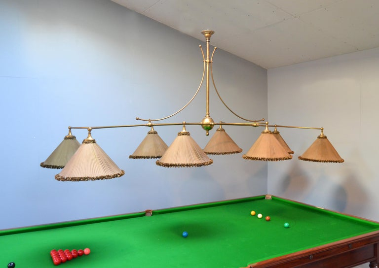 Late Victorian Snooker Billiard POOL Table Lamp For Sale