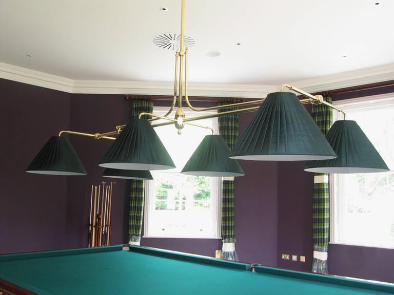 Billiard snooker or pool table light new handmade brass framed for billiard snooker or pool table light new handmade brass framed 2 greentooth Gallery