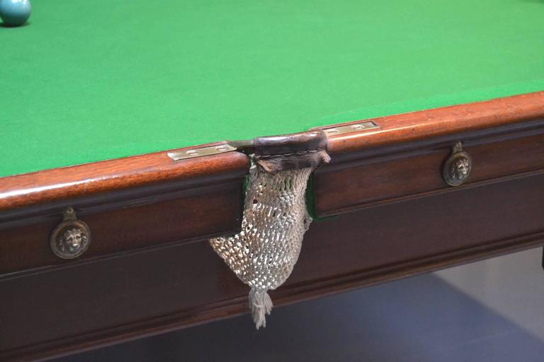 Billiard or snooker table gillows 10ft x 5ft circa 1800 for 10 foot snooker table for sale