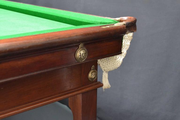 Billiard or snooker table gillows 10ft x 5ft circa 1800 for 10 x 5 snooker table
