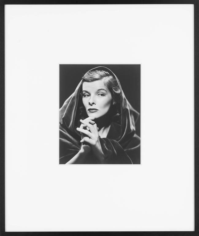 """Katharine Hepburn"", 1935. Period (""vintage"") silver print.  Signed and dated.  Provenance: Katharine Hepburn collection.  (Framed)."