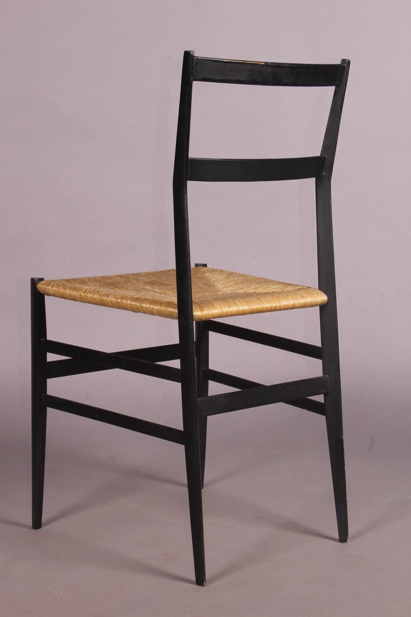Superleggera Chair By Gio Ponti And Cassina, The Seat Is A Bit Stained.