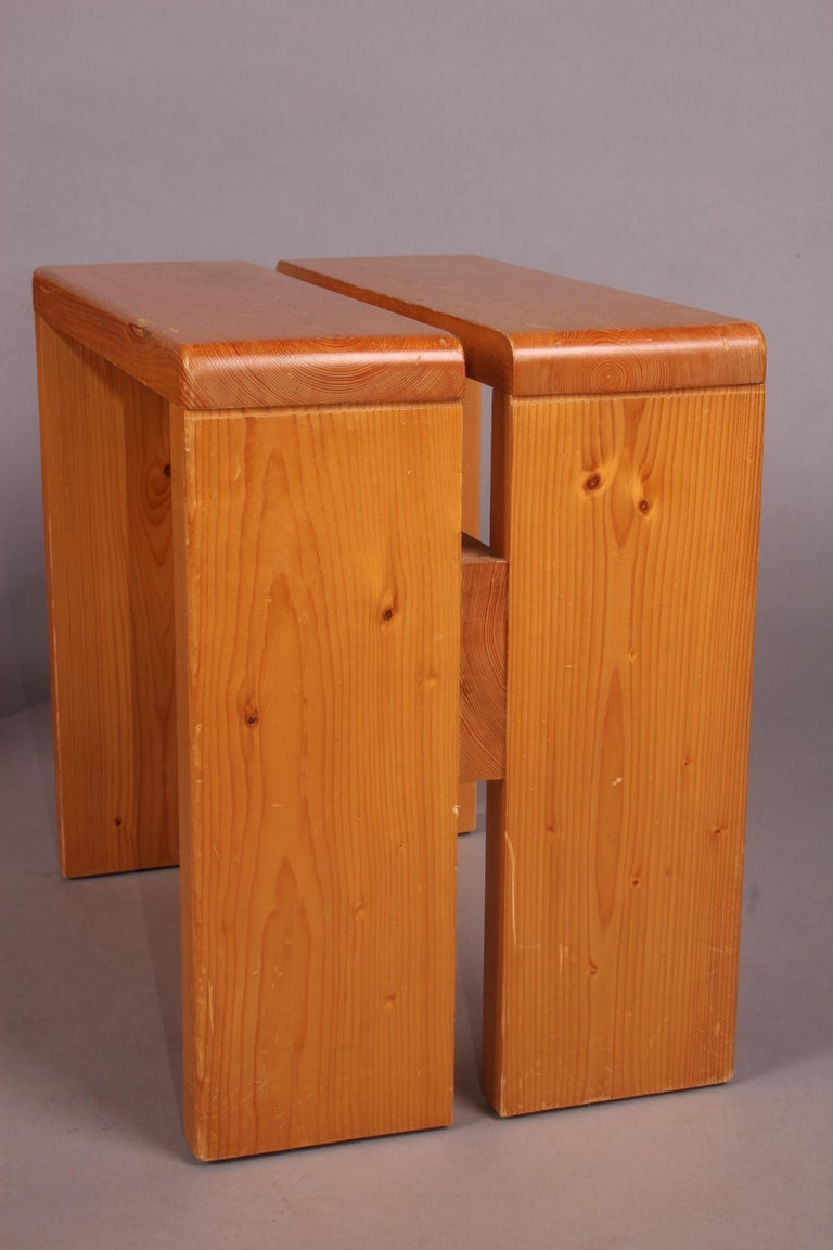 French Charlotte Perriand Pair of Stools for Les Arcs For Sale