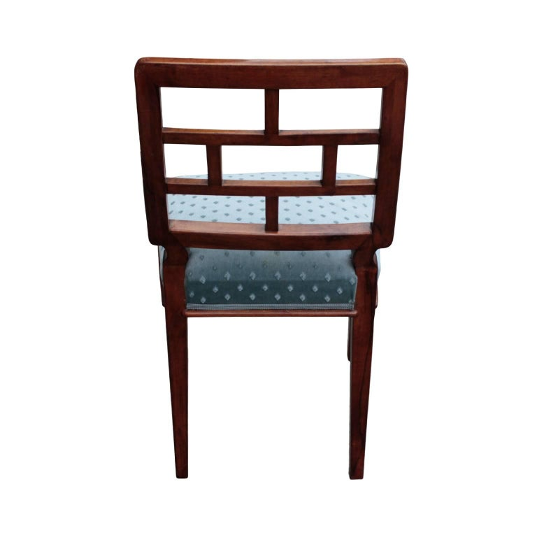 German Art Deco Period Set of Eight Dining Chairs 5