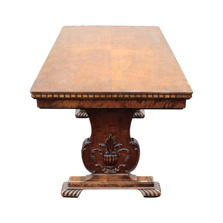 swedish rectangular dining or library extension table for sale at