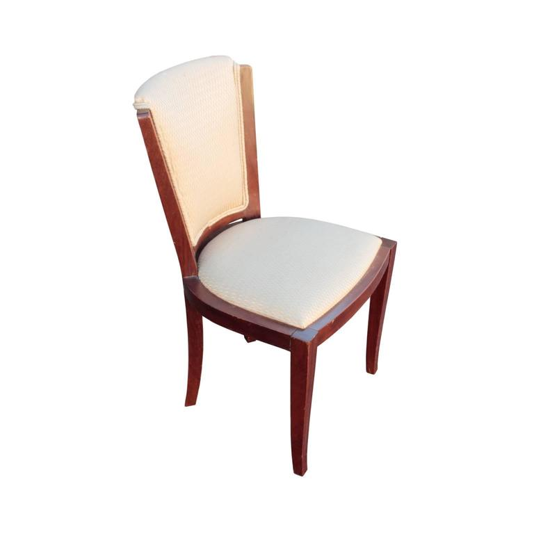 French Art Deco Period Set of Six Dining Chairs In Good Condition For Sale In Hudson, NY