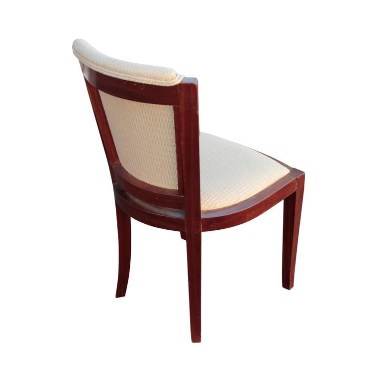 Upholstery French Art Deco Period Set of Six Dining Chairs For Sale
