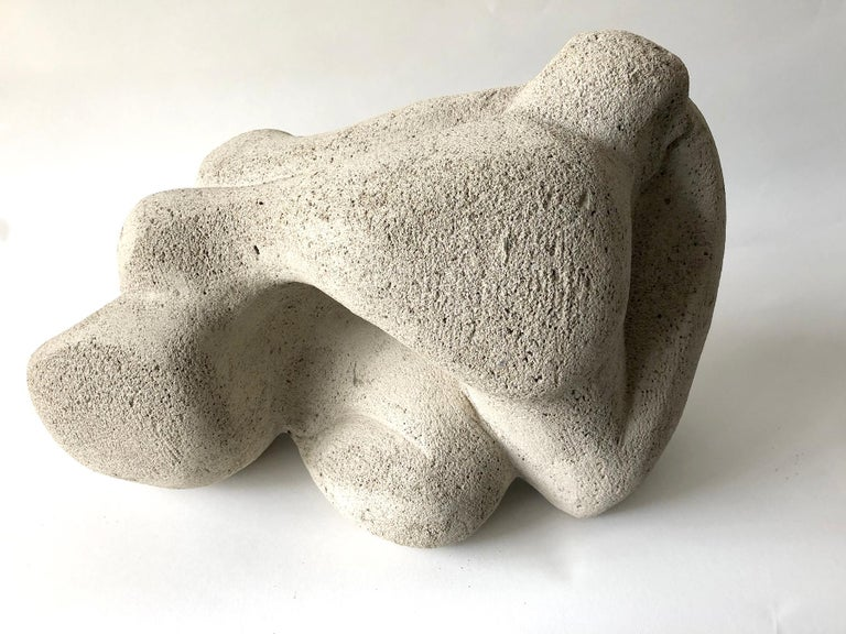 Mid-Century Modern Jack Hanson Picasso Style Reclining Woman Cement Composite Sculpture For Sale