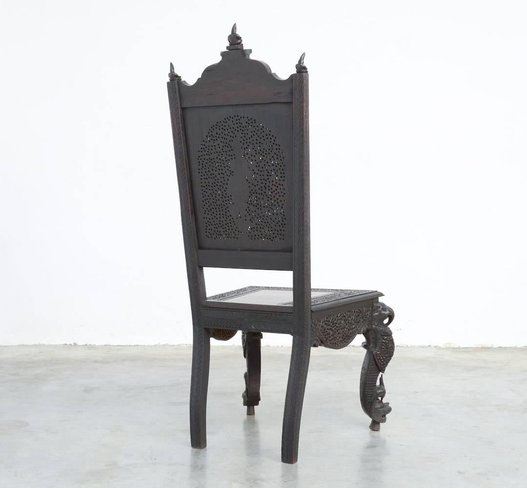 Extraordinary Anglo Indian Carved Chair For Sale At 1stdibs