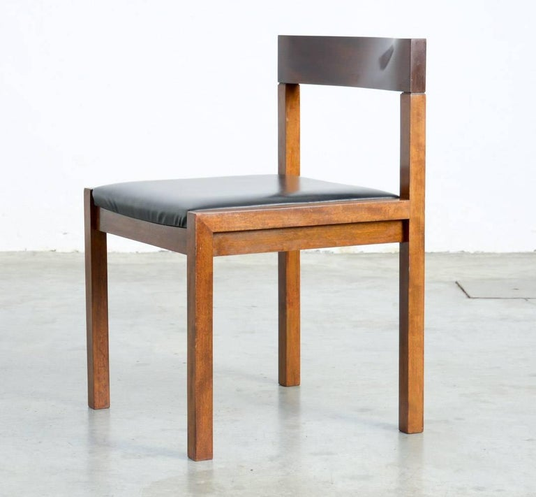 Rosewood Set of Eight Dining Chairs by Alfred Hendrickx for Belform For Sale