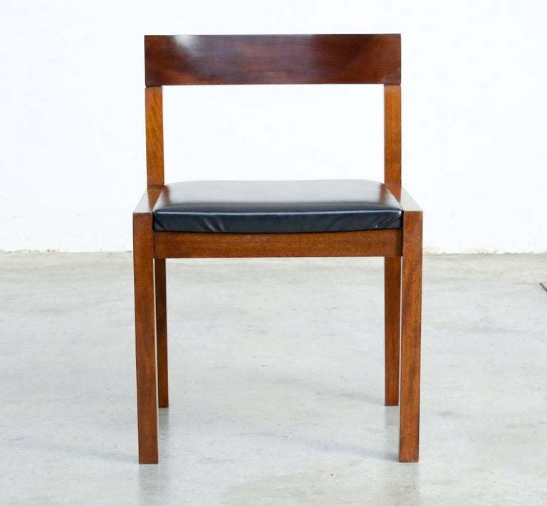 Mid-20th Century Set of Eight Dining Chairs by Alfred Hendrickx for Belform For Sale