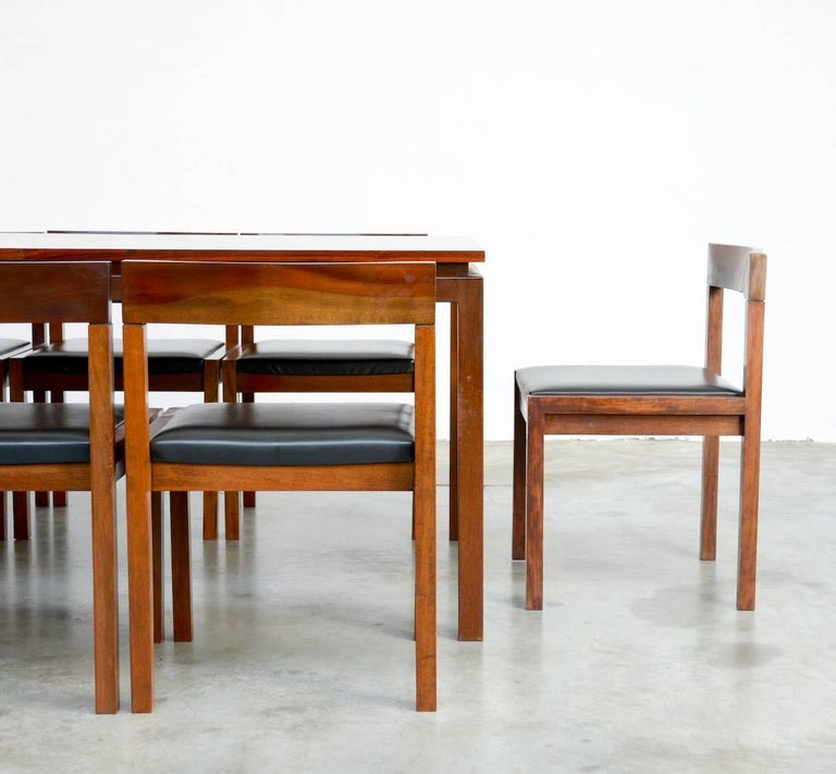 Set of Eight Dining Chairs by Alfred Hendrickx for Belform For Sale 3