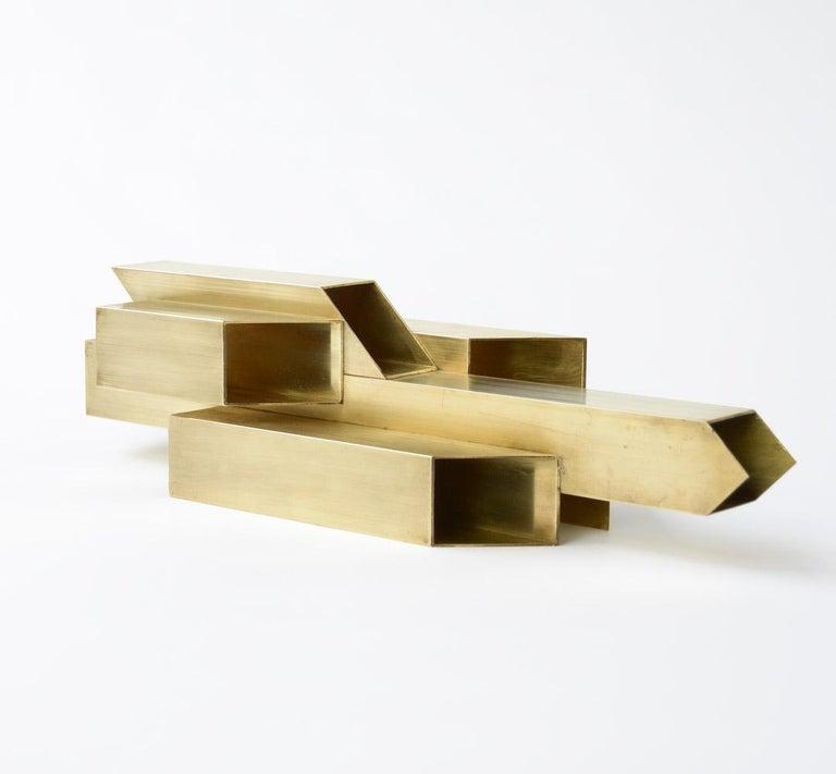 Geometric Brass Sculpture For Sale 2