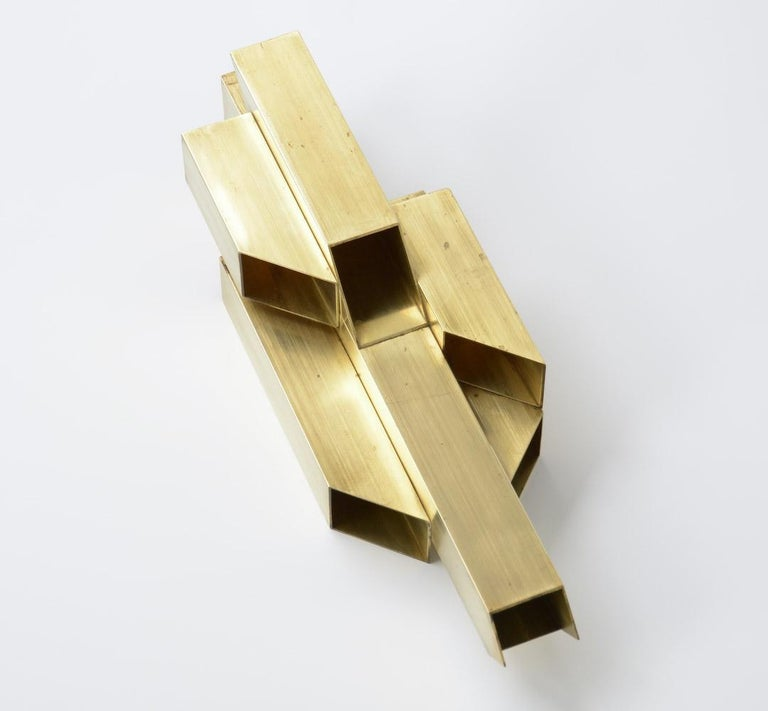 Geometric Brass Sculpture In Good Condition For Sale In Vlimmeren, BE