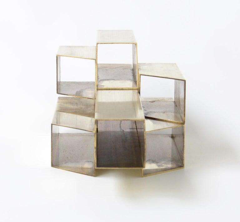 Geometric Brass Sculpture For Sale 3