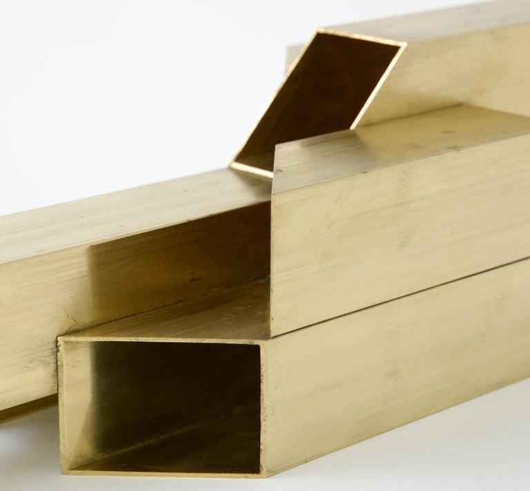 Geometric Brass Sculpture For Sale 5