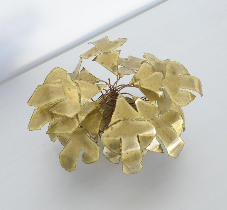 Modern Brass Palm Tree Sculpture by Daniel Dhaeseleer For Sale