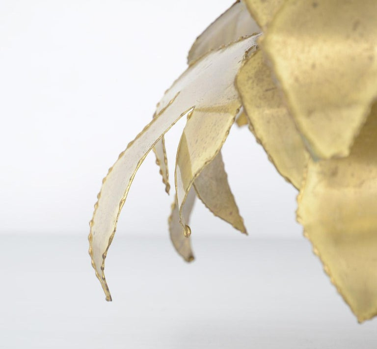 Brass Palm Tree Sculpture by Daniel Dhaeseleer For Sale 3