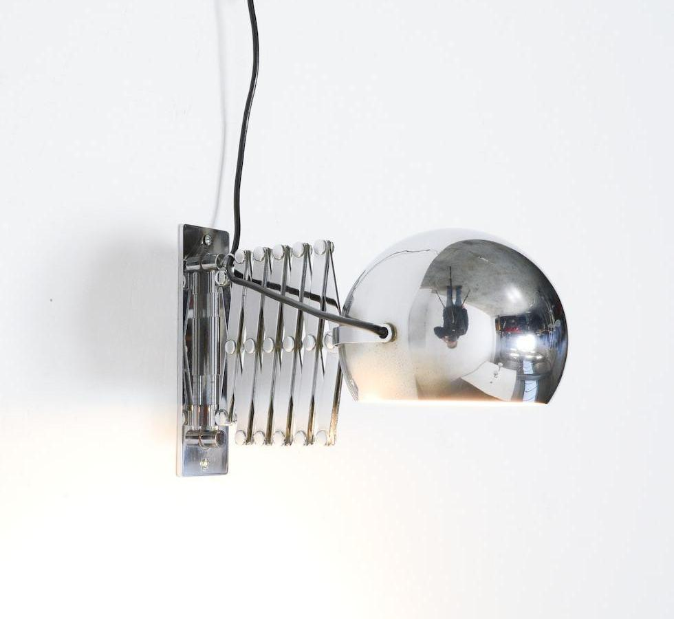 wall lamp scherenlampe by ingo maurer for design m for sale at 1stdibs. Black Bedroom Furniture Sets. Home Design Ideas