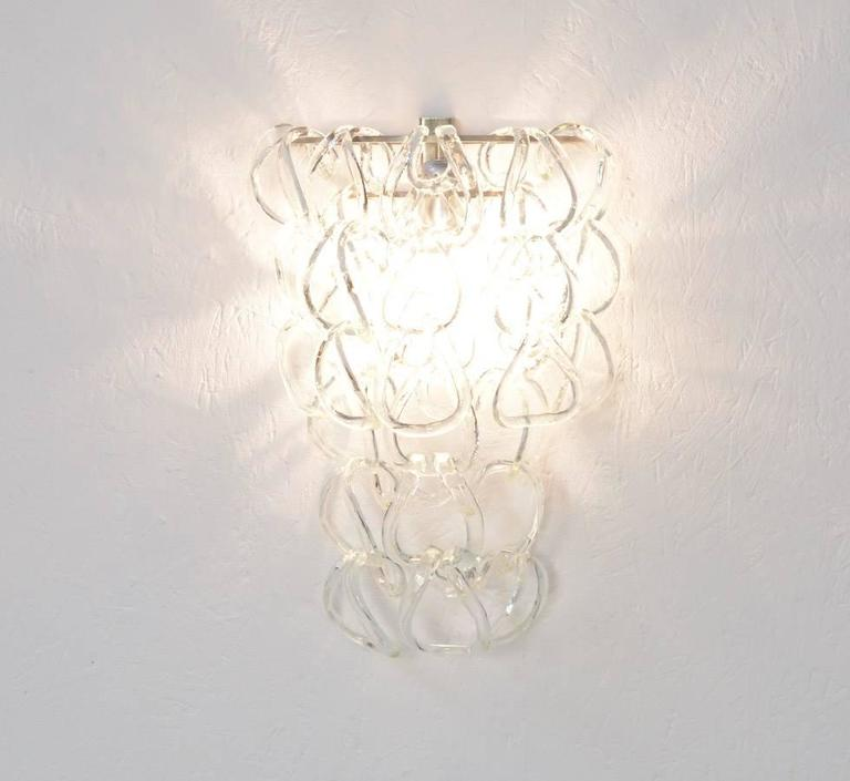 Murano Glass Wall Lamp For Sale at 1stdibs