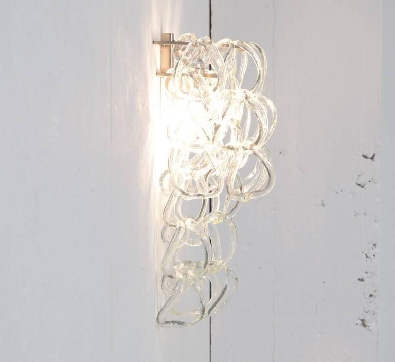 Murano Glass Wall Lamps : Murano Glass Wall Lamp For Sale at 1stdibs