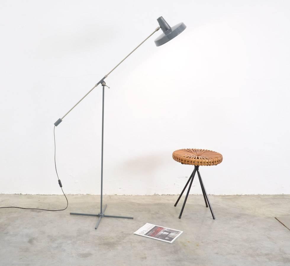 Industrial Metal Floor Lamp Of The 1950s At 1stdibs