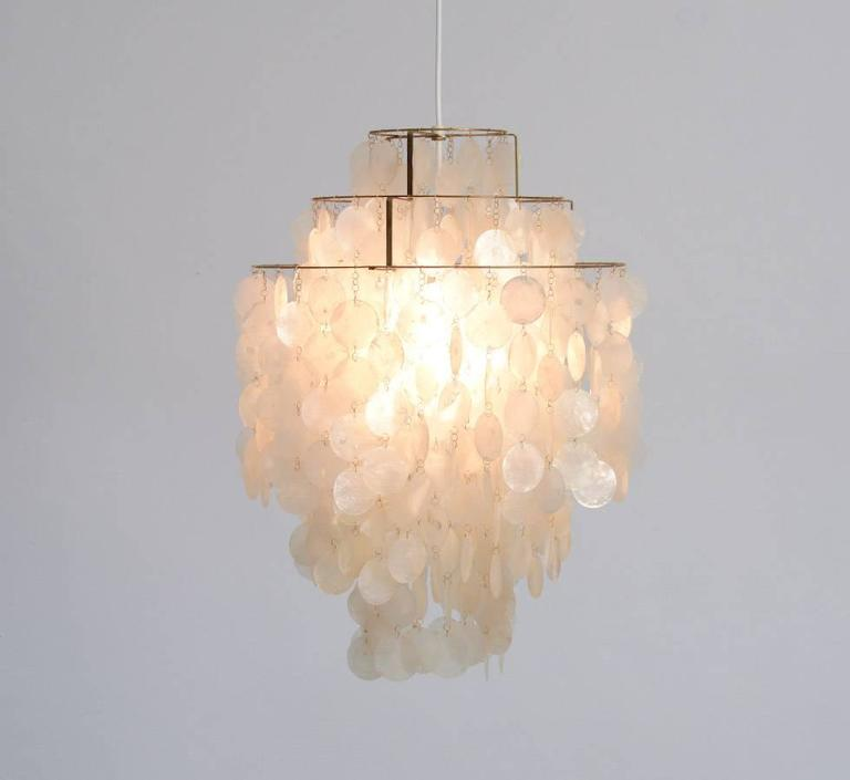 Tidsmæssigt Rare Fun One DM Gold Pendant Lamp by Verner Panton for Lueber at MU-39