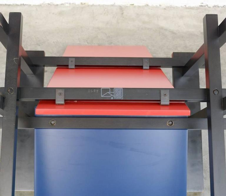 Red and Blue Chair by Gerrit Rietveld for Cassina For Sale 2