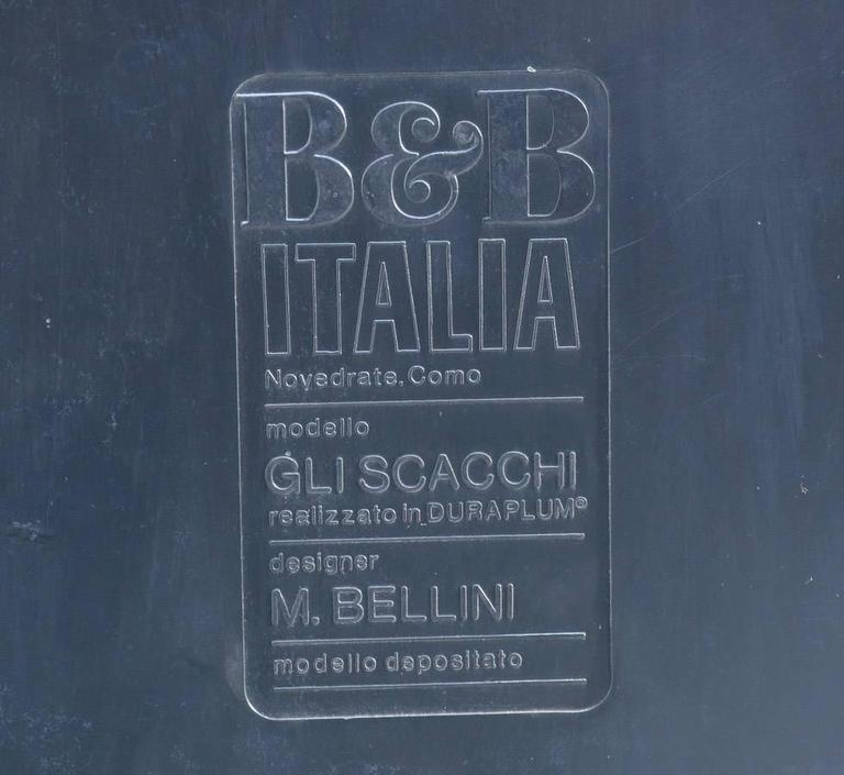 Set of Four Side Tables Gli Scacchi by Mario Bellini for B  : GliScacchibyMarioBelliniforBandBItalia1003l from www.1stdibs.com size 768 x 705 jpeg 47kB