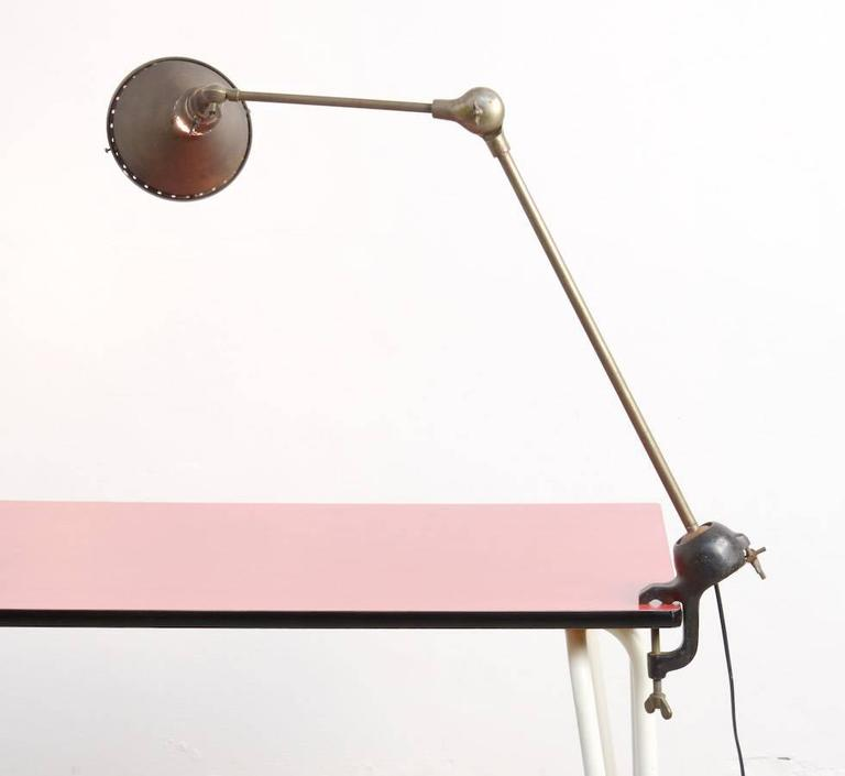 Mid-20th Century Unique Industrial Desk Lamp For Sale