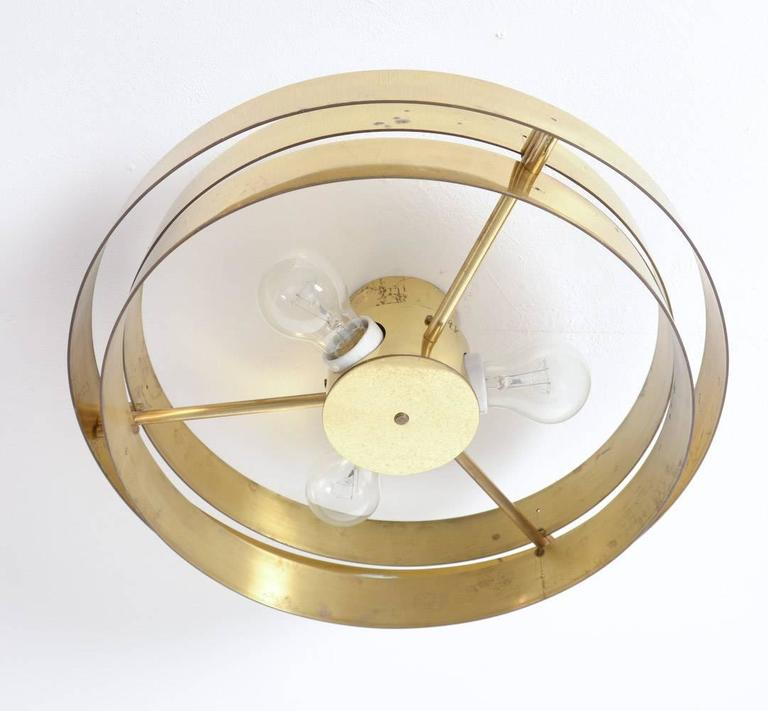 Unique Brass Ceiling Lamp by Jules Wabbes, 1969 In Excellent Condition For Sale In Vlimmeren, BE