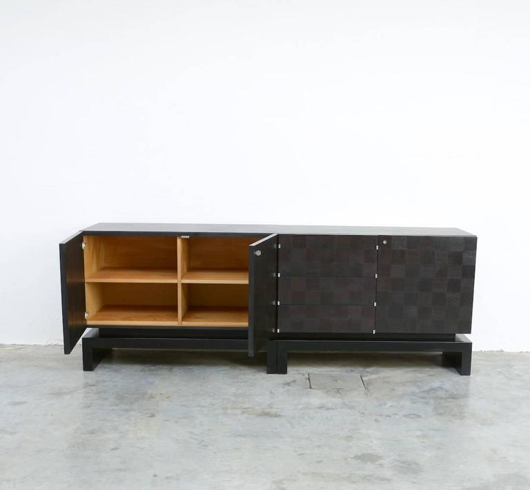 Black Geometric Sideboard by the Coene, Belgium 3 - Black Geometric Sideboard By The Coene, Belgium For Sale At 1stdibs