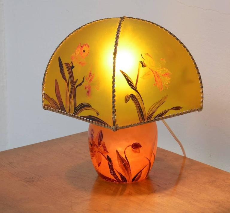 Art Nouveau Hand-Painted Table Lamp by Victor De Winner 2