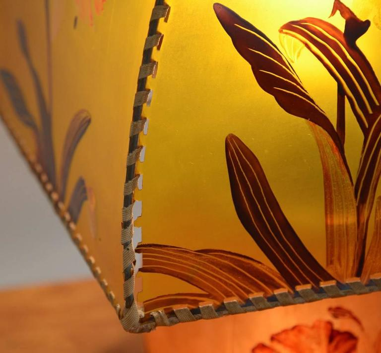 Art Nouveau Hand-Painted Table Lamp by Victor De Winner 4