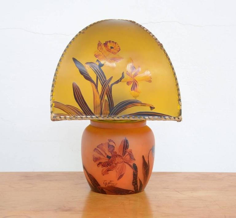 Art Nouveau Hand-Painted Table Lamp by Victor De Winner 6