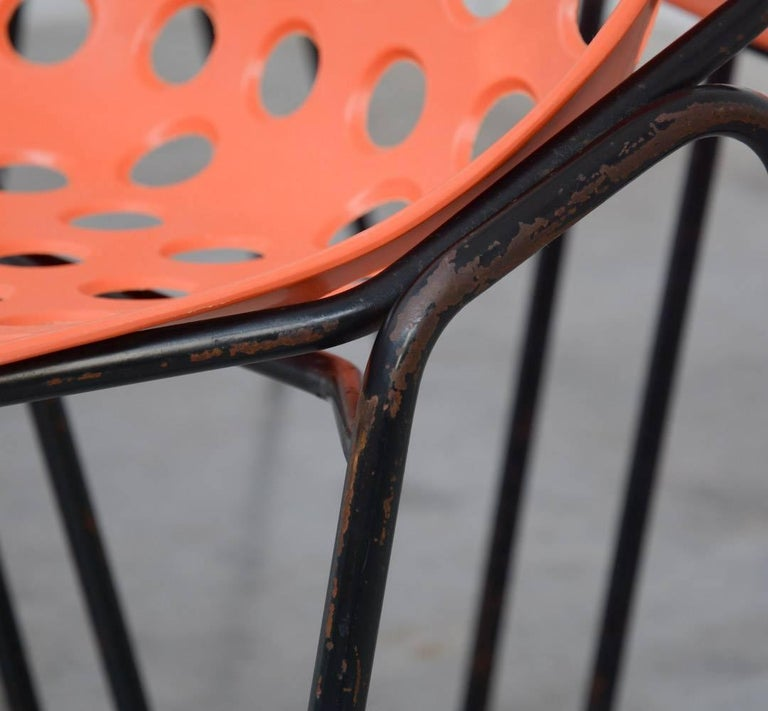 Set of Six Coquillage Stacking Chairs by P. Guariche for Meurop 5