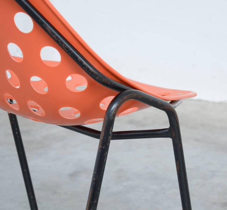 Set of Six Coquillage Stacking Chairs by P. Guariche for Meurop 6