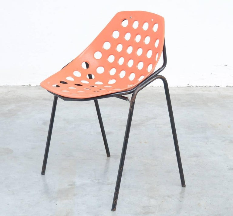 Set of Six Coquillage Stacking Chairs by P. Guariche for Meurop 8