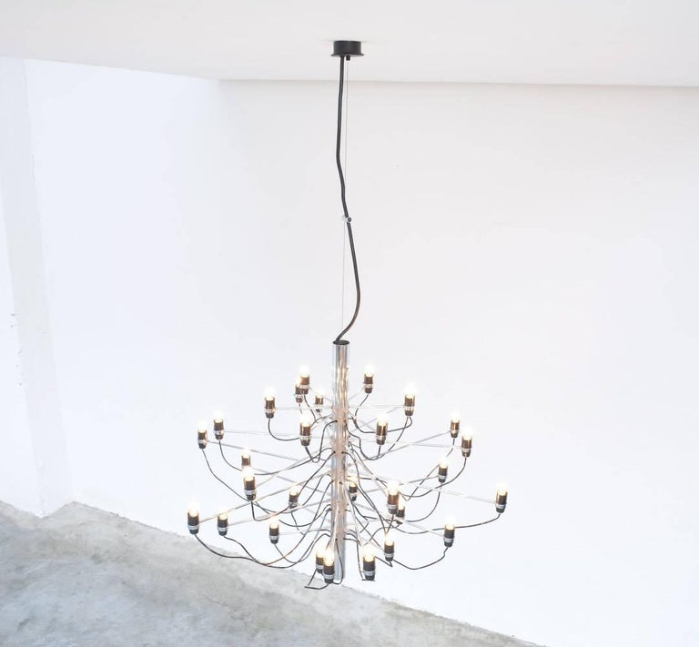Chandelier Model 2097/30 by Gino Sarfatti for Arteluce 10