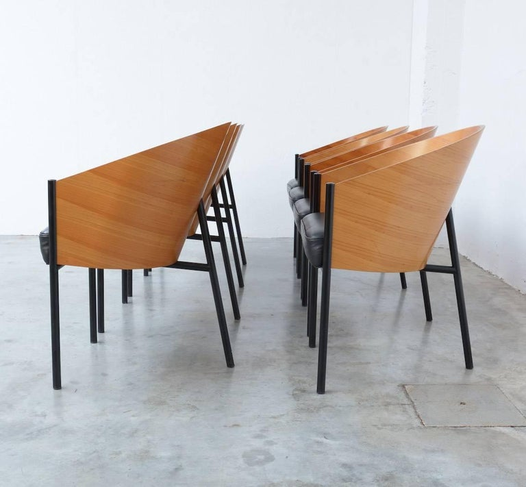 set of eight costes chairs by philippe starck for driade aleph at