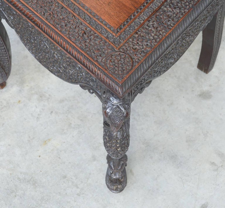 Extraordinary Anglo-Indian Carved Chair For Sale 2