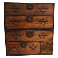 'Isho-Dansu' Japanese Clothing Chest with Fine Iron Hardware