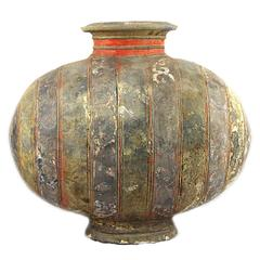 "Chinese Han Dynasty Pottery ""Cocoon"" Vase"